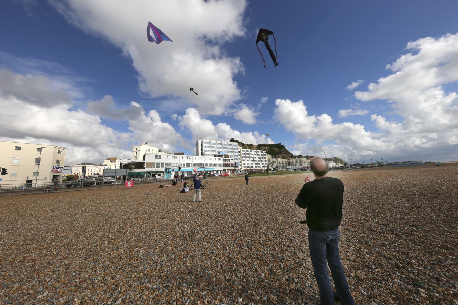 Kites on Hastings Beach